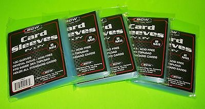 500 Standard Card Sleeves For Sports-Trading Cards,soft Poly, Free Shipping