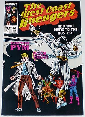 West Coast Avengers #21 from June 1987 F/VF to VF Moon Knight & Doctor Pym join