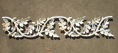 SALE Antique Architectural Salvage Cast Iron Pediment Oak Leaves Acorn Swag Chic