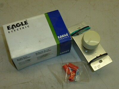 Nos! Eagle 3-Way Rotary Dimmer Switch, 6000V, Ivory