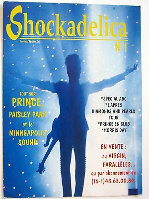 """PRINCE """"SHOCKADELICA No 1"""" 1998 FRENCH MAGAZINE POSTER FOR PRINCE FANS"""