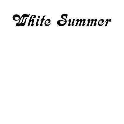 WHITE SUMMER - White Summer - LP 1976 Out Sider