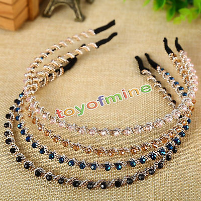 New Women Girl Crystal Rhinestone Jewelry Headband Head Piece Hair Band