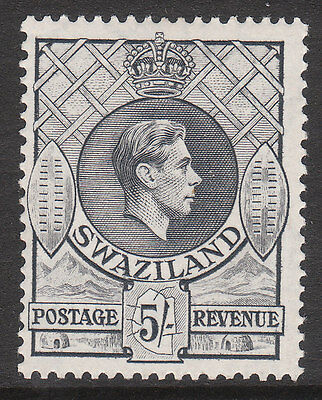 SWAZILAND 1938 #37 MINT GV1 STAMP P13.5 x P13 Grey a