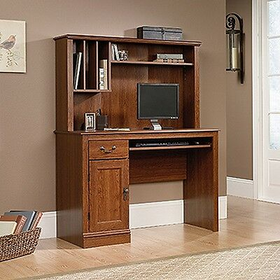Sauder 101736 Camden County Computer Desk W/hutch Planked Cherry Finish NEW