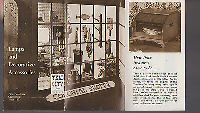 Tell City Chair Company Indiana Brochure 1950s Lamps & Decorative Accessories