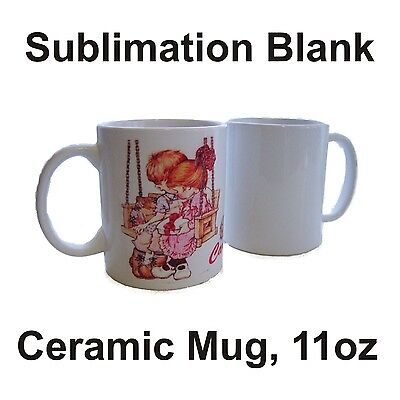 36 White Ceramic Mug Sublimation Blank 11oz Coated Premium FOR Transfer