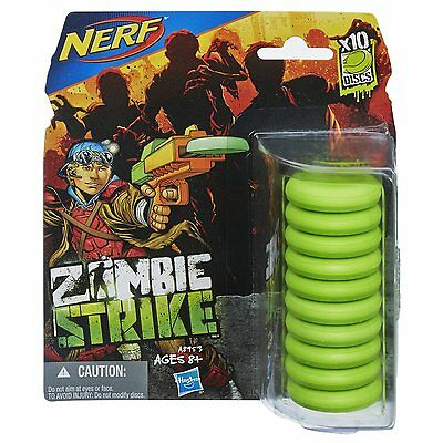 10-pack Nerf Zombie Strike Disc for Ripshot, Ricochet and Fusefire Blasters