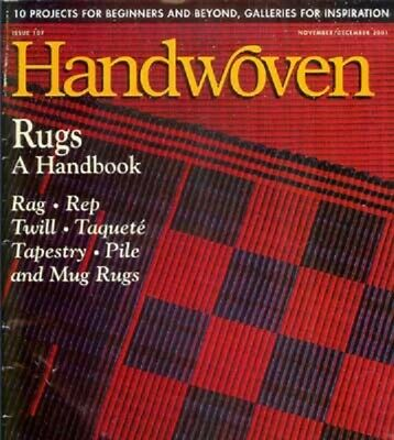 Handwoven magazine Nov/Dec 2001: lots of rugs, knotted pile bag +