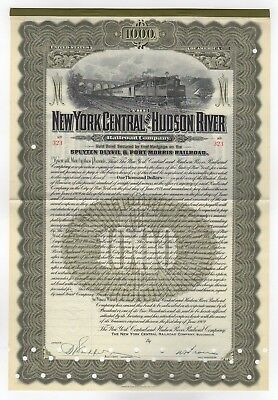 1909 New York Central and Hudson River Railroad Company Bond