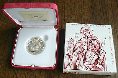 Vatican MMVIII 2008 Benedict XVI World Peace Day Silver 10 Euro PROOF Box Cert