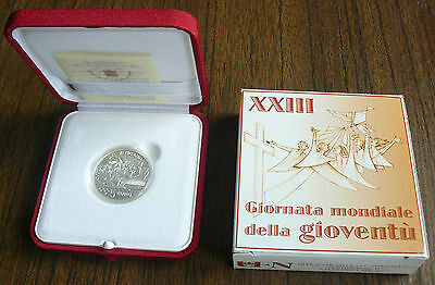Vatican MMVIII 2008 Benedict XVI World Youth Day Silver 5 Euro PROOF Box Cert