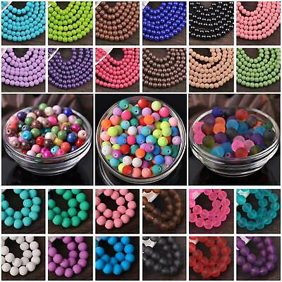 Wholesale Solid Colors Round Glass Loose Spacer Beads lot 4mm 6mm 8mm 10mm