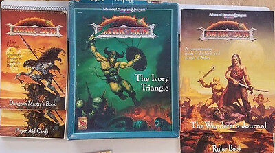 Advanced D&D Dark Sun The Ivory Triangle Adventure Box Set and More Lot!