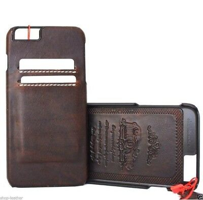 genuine vintage real leather Case for apple iphone 6  6s thin wallet cover slim