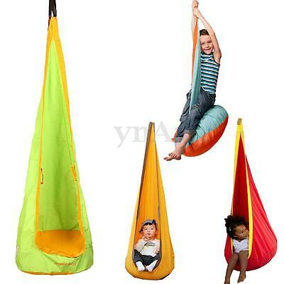 Kid Children Inflatable Hammock Pod Hanging Swing Seat Chair Tent Toy Set Garden