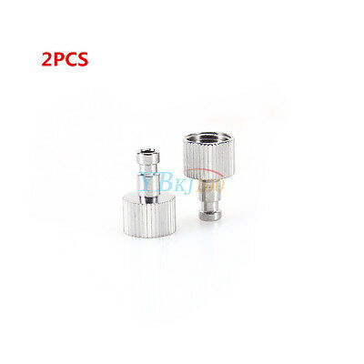 """2Pcs 1/8""""Alloy Airbrush Quick Disconnect Coupler Hose Connector Release Adapter"""