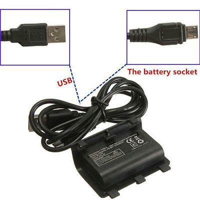 2X 2400mAh Rechargeable Replacement Battery Pack fr XBOX ONE Controller+Cable HY