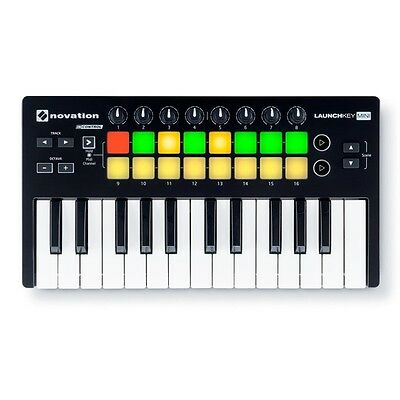 Novation Launchkey Mini MK2 25-Key Midi USB Studio Controller for Ableton Live