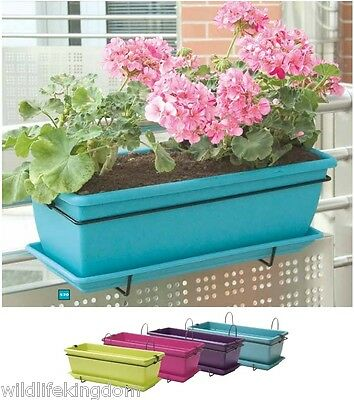 Hanging Garden Window Sill Plant Trough Pot Box Basket Planter Planting Pots