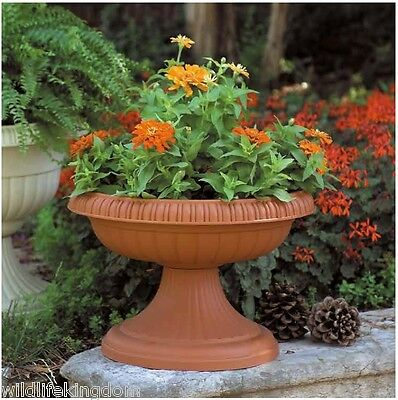Large Garden Patio Plant Bowl With Pedestal Pot Container Planter Plants  Shrub