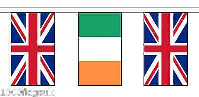 Ireland & United Kingdom Polyester Flag Bunting - 10m with 28 Flags