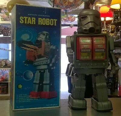 Star Robot Hong Kong Star Wars Style battery toy 1970 + boite futur toys space