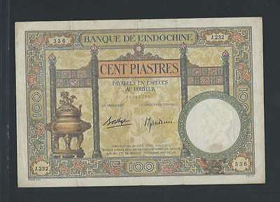 INDOCHINE  1 Billet de 100 Piastres Type DUPLEIX