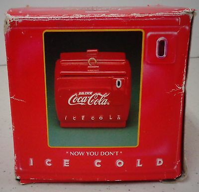 """Coca-Cola Pop-Up Ornament by Enesco 1993 New in Box """"Cool Yule"""""""