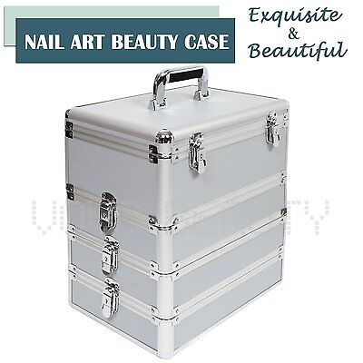 Extra Large Make up Case Vanity Beauty Cosmetic Nail Tech Hairdressing Box Pink