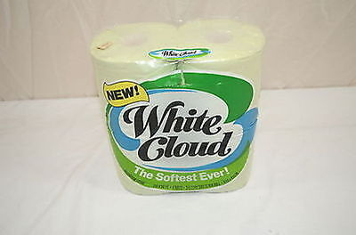 NEW Vintage White Cloud Pastel Green Bathroom Tissue Toilet Paper P&G 1280