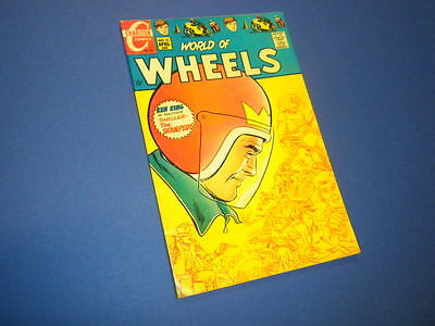 WORLD OF WHEELS #31 Charlton Comics 1970 hot rods cycles dragsters cars