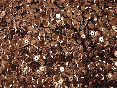 Sequins Metallic Cup 6mm Brown 25g Dance Sewing Craft FREE POSTAGE