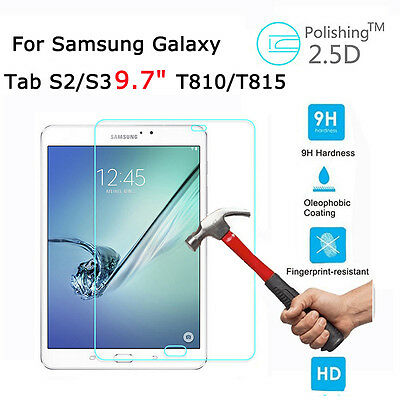 """Tempered Glass/Clear/Matte Screen Guard Film For Samsung Galaxy Tab S2 9.7"""" Lot"""