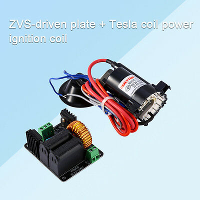 ZVS Tesla coil flyback driver circuit + ignition Coil SGTC Jacob's ladder Heater