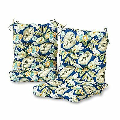 Greendale Home Fashions Set of Two, Outdoor High Back Chair Cushions, Marlow NEW