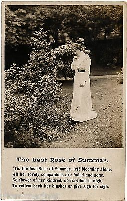 The Last Rose of Summer, Bamforth RP song postcard, unposted