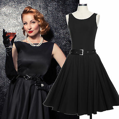 New Womens Vintage 1950'S Retro Rockabilly Evening Party Skater Swing Tea Dress