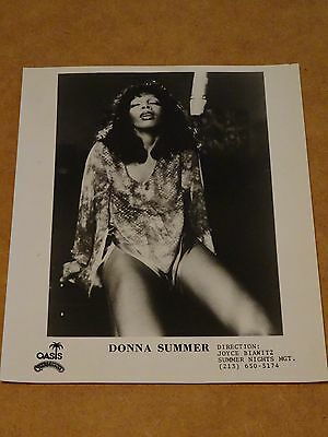 Donna Summer 10 x 8 1975 US Agency Publicity Photo