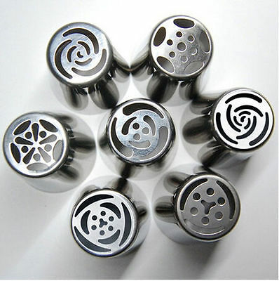 7St. Russian Icing Piping Nozzles Tips Torte Dekoration Sugarcraft Pastry Tool