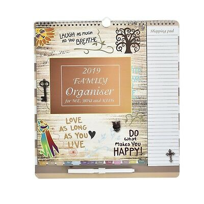 2017 Family Organiser Owl Calendar Pen List dates to remeber Things to do ST9788