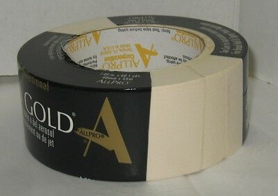 """New Roll AllPro All Pro Gold Professional Masking Tape 1.88"""" x 60.1 Yards Each"""