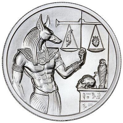Elemetal Mint 2 Troy Oz .999 Ultra High Relief Silver Anubis Round SKU41667