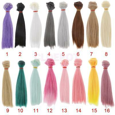 15x100cm DIY High-temperature Wire Straight Hair Wig for 1/3 1/4 1/6 BJD SD LUTS