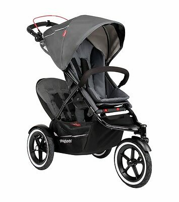 Phil & Teds Navigator 2 Double Stroller, Graphite Grey NEW (Double Kit Included)