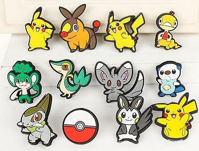 wholesale Popular Pikachu Pokemon mix children Shoe Charms Jibbitz