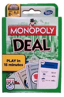 MONOPOLY DEAL CARD GAME no board Real Estate NEW-FACTORY SEALED Parker Bro 2014