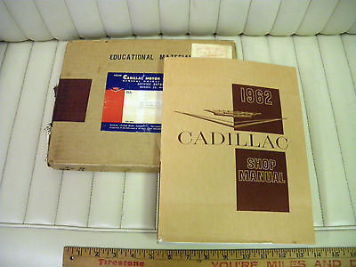 1962 Cadillac Car 60, 62, 75, Commercial Chassis Shop Manual NOS w/ Box