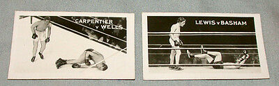 1923 Lot of 2 Famous Knock-Outs Boxing Cards Carpentier / Wells & Lewis / Basham
