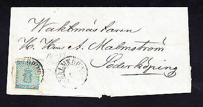 Sweden 12 Ore Stamp 15-6- 1861 Cover from Malmkoping to Soderkoping SG 8a